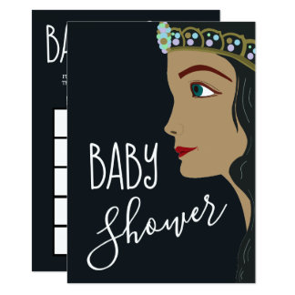Babyparty-Bingo Prinzessin-Blue Karte