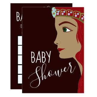 Babyparty-Bingo Prinzessin-Red Karte