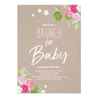 brunch babyparty einladungen | zazzle.de, Einladung