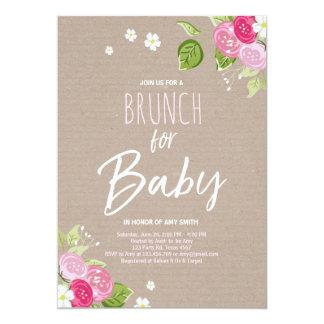Babyparty Brunch Einladung Rustikales Mit Karte