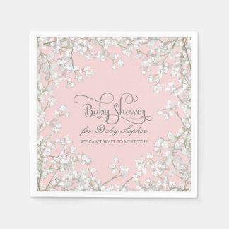 Babyparty-Dekor Babys Atem-Kranz mit Blumen Serviette