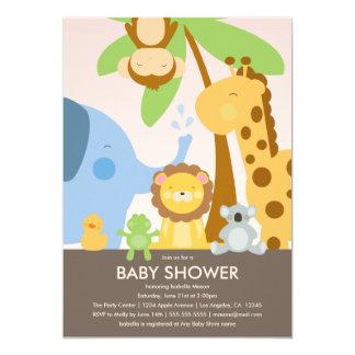 Babyparty der Baby-Tier-| laden ein 12,7 X 17,8 Cm Einladungskarte