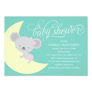 Babyparty der Schlafenmaus| laden ein 12,7 X 17,8 Cm Einladungskarte
