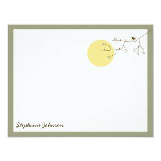 Babyparty der Verschachtelungs-Vogel-Familien-*04 10,8 X 14 Cm Einladungskarte