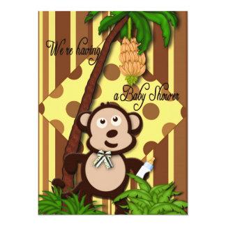 Babyparty-Einladung - Baby-Affe-Thema 14 X 19,5 Cm Einladungskarte