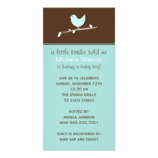Babyparty-Einladung Bilderkarten