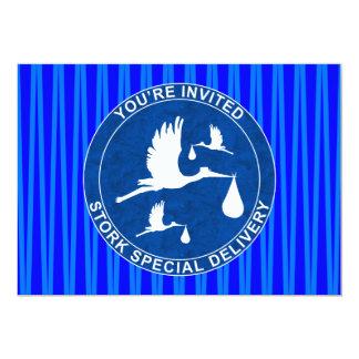 Babyparty-Einladung Blue1 12,7 X 17,8 Cm Einladungskarte