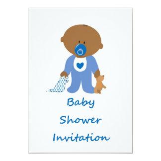 Babyparty-Einladung für Afroamerikanerbaby 12,7 X 17,8 Cm Einladungskarte