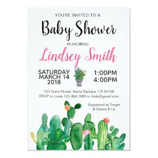 Babyparty-Einladung Kaktus-Kakteen Karte