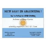 Babyparty-Einladung mit Flagge von Argentinien 12,7 X 17,8 Cm Einladungskarte
