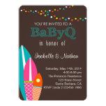 Babyparty-Einladung mit Surfbretter BabyQ Baby