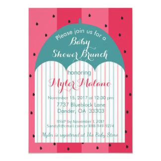 """Babyparty-Einladung """"Wassermelone-Regenschirm """" 12,7 X 17,8 Cm Einladungskarte"""