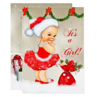 Babyparty-Einladung, WeihnachtsBabyparty 12,7 X 17,8 Cm Einladungskarte