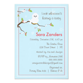 Babyparty-Einladung - Winter-Baby-Eule 12,7 X 17,8 Cm Einladungskarte