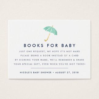 Babyparty-Einsatz-Karte des Buch-Antrag-| Visitenkarte