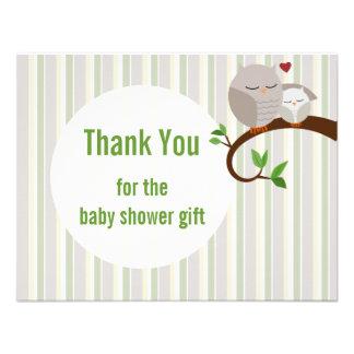 Babyparty-Eulen-Ebene danken Ihnen Ankündigung