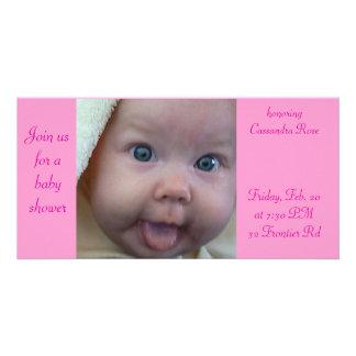 Babyparty Personalisierte Foto Karte