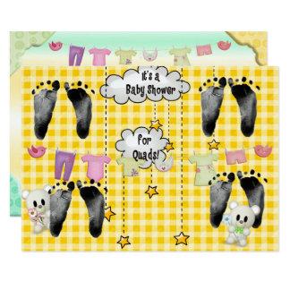 Babyparty für Vierergruppen 11,4 X 15,9 Cm Einladungskarte