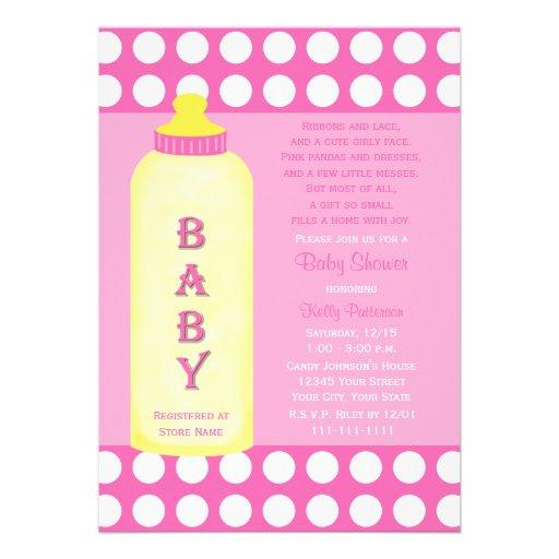 Babyparty-Gedicht-Einladung -- Baby