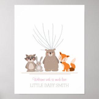 Babyparty Guestbook nimmt von Waldrosa Poster