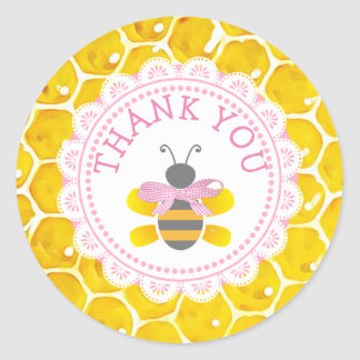 Babyparty-Honigbiene danken Ihnen Runder Aufkleber
