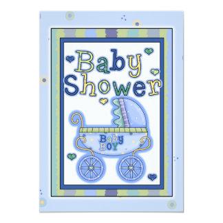 Babyparty-Jungen-Einladungs-Karte 12,7 X 17,8 Cm Einladungskarte