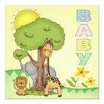 Babyparty laden ein quadratische 13,3 cm einladungskarte