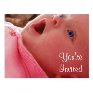 Babyparty lädt ein postkarte
