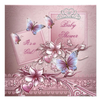 Babyparty-Mädchen-Rosa-Prinzessin Butterfly