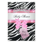 Babyparty-Mädchenzebra-Rosa-Prinzessin Tiara Individuelle Einladungen