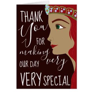 Babyparty Prinzessin-Red danken Ihnen Karte