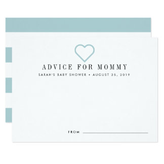 Babyparty-Rat kardiert   Blau Karte