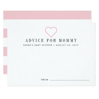 Babyparty-Ratekarten   erröten Karte