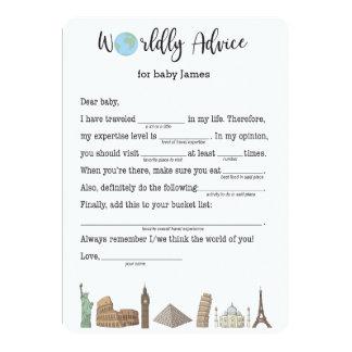 Babyparty-Ratekarten-Reise themenorientiert 12,7 X 17,8 Cm Einladungskarte