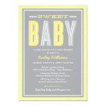 Babyparty schickes | tippen Gelb und Grau ein Einladungen