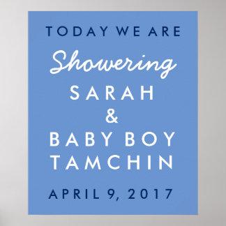 Babyparty-willkommenes Plakat