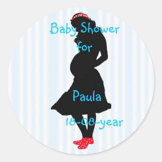Babypartyaufkleber - besonders angefertigt runder aufkleber