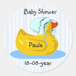 Babypartyaufkleber - Gummiente Runder Aufkleber