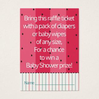 Babypartyraffle-Karte/Regenschirm-Wassermelone Visitenkarte