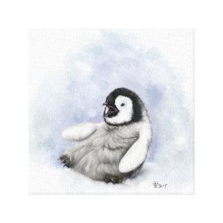 BabyPenguin, der Leinwand gleitet