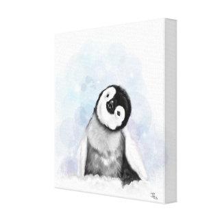 Babypenguin-Leinwand Leinwanddruck