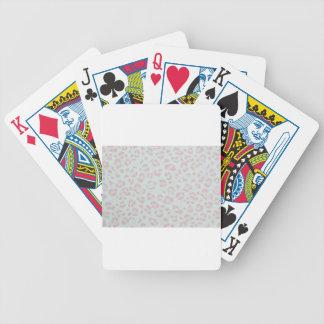 Babyrosa-Gepardtierdschungeldruck Bicycle Spielkarten