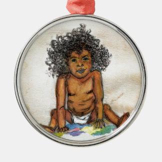 Babys bis zum nicht guten ursprünglichen Druck Silbernes Ornament