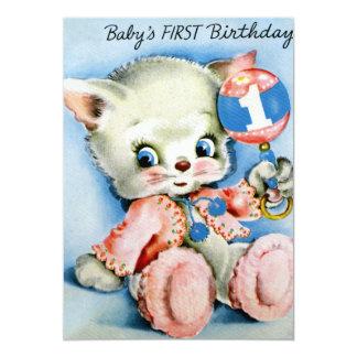 Babys erste Geburtstags-Einladungen 12,7 X 17,8 Cm Einladungskarte