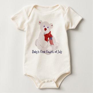 Babys ersten am 4. Juli Baby Strampler