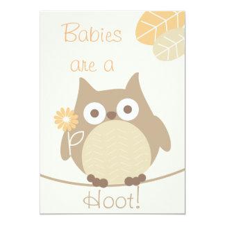 Babys sind eine Schrei-Eulen-Person-Babyparty 12,7 X 17,8 Cm Einladungskarte