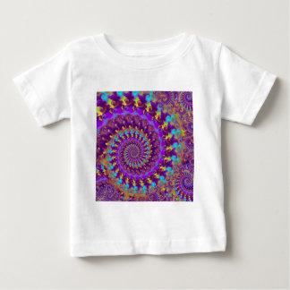 Babys T - Shirt - verrücktes Fraktal lila