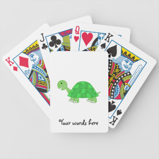 Babyschildkröte im Grün verblassen Spielkarten