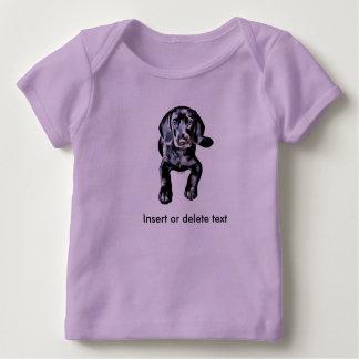 Babyschoss-Shirtschwarz-Labradorwelpe Baby T-Shirt