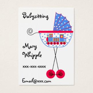 Babysitter Babybuggy Entwürfe Visitenkarte